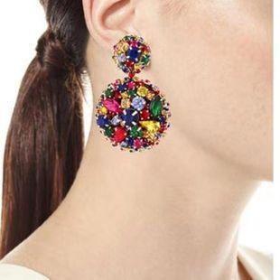 Womens Geometric Mosaic atmosphere Alloy Earrings NHJQ126657's discount tags