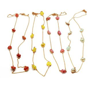 Womens Delicate flower beads Necklaces NHOM126664's discount tags