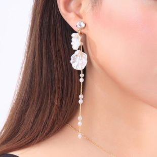 Womens Cold wind shell beads Rhinestone Alloy Earrings NHQD126665's discount tags