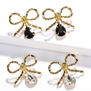 Womens Bow Painted Alloy Earrings NHJQ126672's discount tags