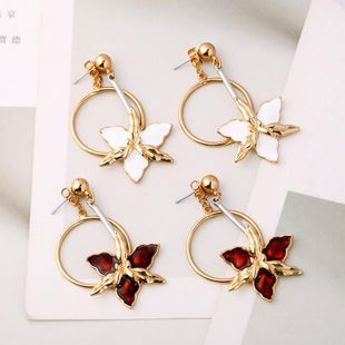 Womens Flower Dropper Alloy Earrings NHQD126675's discount tags