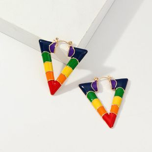 Womens V-shaped plating alloy Earrings NHNZ126686's discount tags
