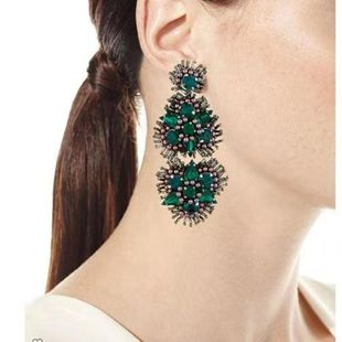 Womens Geometric Rhinestone Earrings NHJQ126685's discount tags