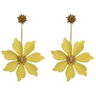 Fashion maple leaf vintage Floral Plating Alloy Earrings NHJQ126694's discount tags