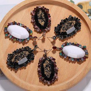 Womens Geometric Gemstone rhinestone Earrings NHJQ126699's discount tags