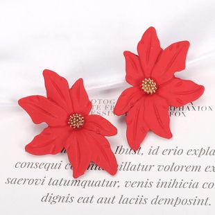 Womens Floral Paint Alloy Earrings NHJQ126703's discount tags