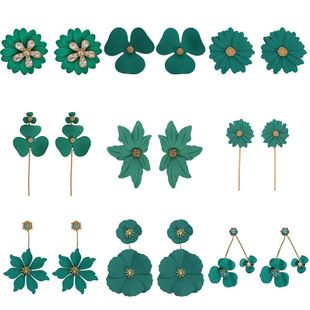 Womens Floral Plating Alloy Earrings NHJQ126706's discount tags
