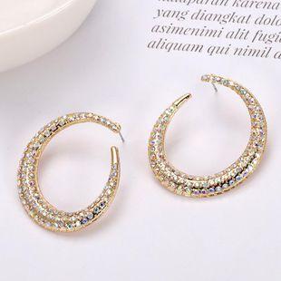 Womens Geometric Paint Alloy rhinestone Earrings NHJQ126709's discount tags