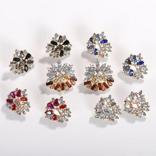 Womens Geometric Colored zircon Rhinestone Earrings NHJQ126713's discount tags