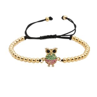 Micro-inlaid zircon animal owl weave Copper Bracelets & Bangles NHYL126719's discount tags