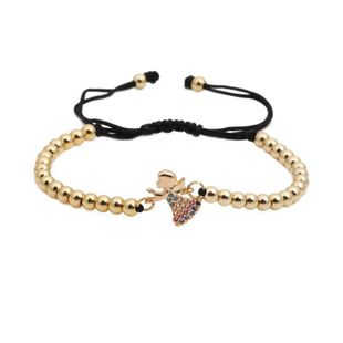 Micro-inlaid zircon weave adjustable Copper Bracelets & Bangles NHYL126728's discount tags