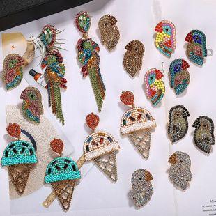Womens Animal / Zodiac Ice Cream Alloy Rhinestone Beads Earrings NHJQ126739's discount tags