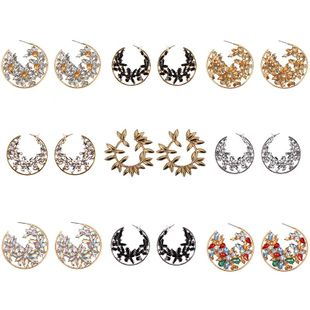Fashion ice circle Rhinestone Alloy Necklaces NHJQ126742's discount tags