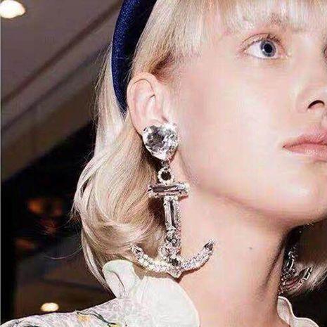 Womens Fashion Anchor Love Cross Earrings NHWK126973's discount tags