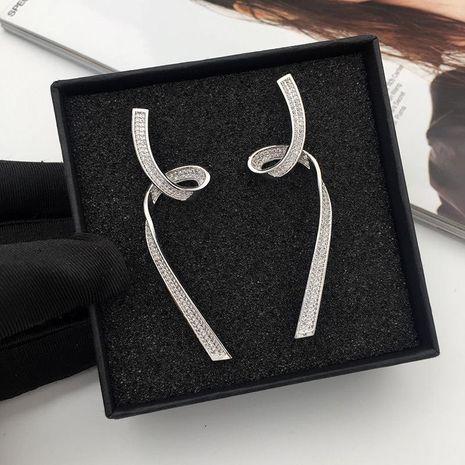 Women s fashion simple line earrings NHWK127035's discount tags