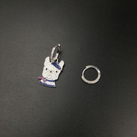 Fashion puppy micro-set zircon earrings NHWK127031's discount tags