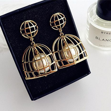 Womens Fashion Birdcage-shaped Alloy Pendant NHWK127070's discount tags