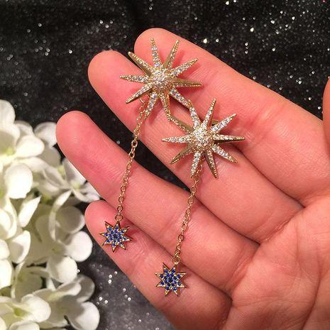 Womens Fashion S925 Alloy Needle Sun Flower Earrings Octagon Star Double Earrings NHWK127203's discount tags