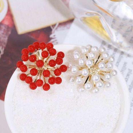 Womens Fashion S925 Alloy Needle Beads Flower Fireworks Stud Earrings NHWK127228's discount tags