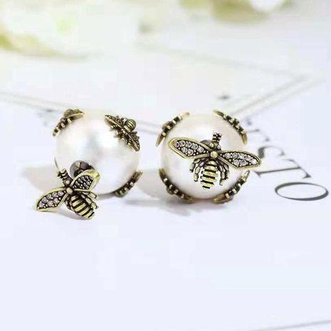 WomensFashion bee S925 alloy pin micro-set zircon earrings NHWK127239's discount tags