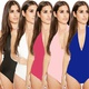 New 10-color sexy one-piece top wild shirt NHLM126938