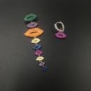 Womens Fashion long fringed lips with micro zircon earrings NHWK126974