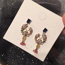 Fashion S925 Alloy Colored lobstershaped Zircon Earrings NHWK127016