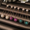 Womens Fashion colored ball microinlaid zircon earrings NHWK127209