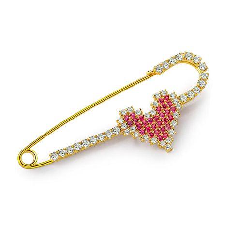 Corazón de mujer en forma de cobre Broches NHLJ127297's discount tags