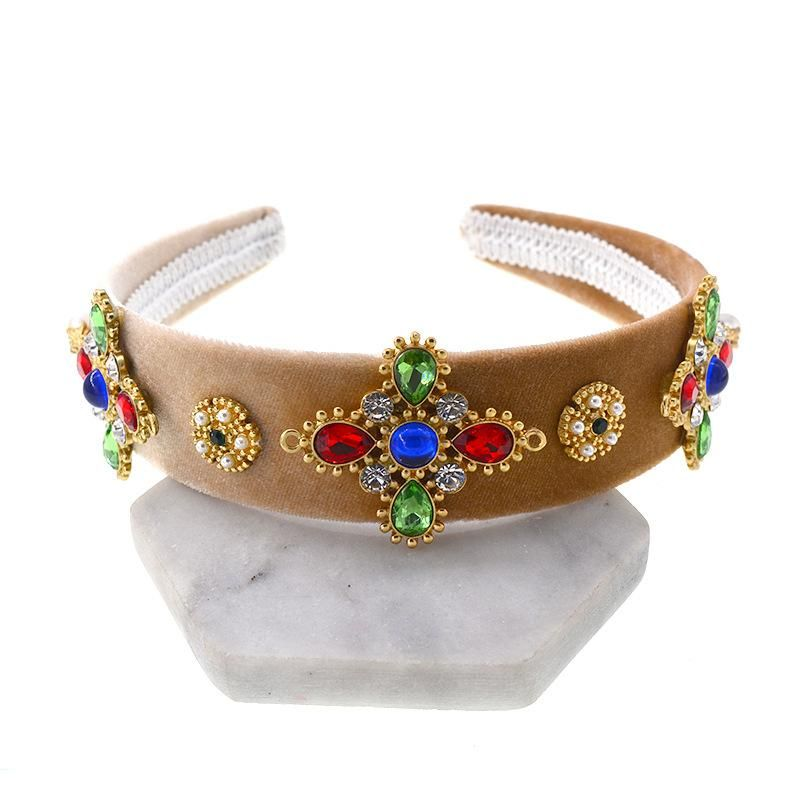 Womens Floral Plating Alloy Hair Accessories NHNT127323