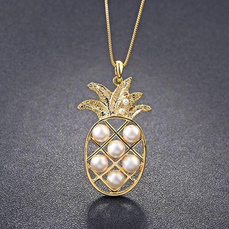 Collier de perles en alliage de fruits ananas pour femmes NHLJ127329's discount tags
