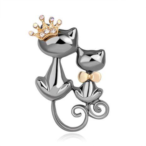 Broches de joyería de gato de aleación de galjanoplastia animal para mujer NHDR127336's discount tags