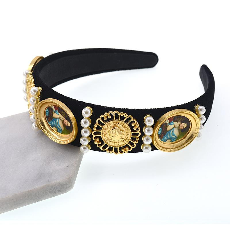 Womens Crown Plating Alloy Hair Accessories NHNT127349