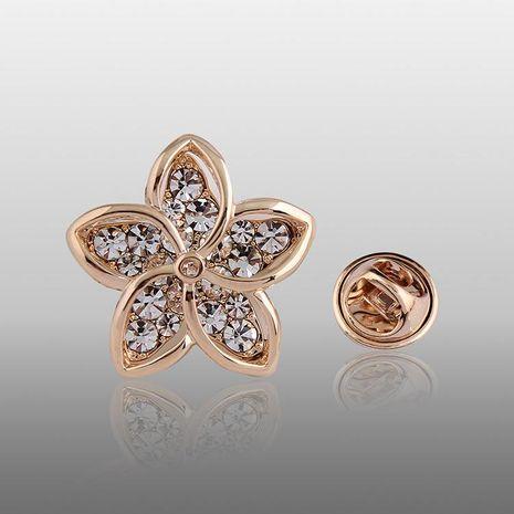 Broches de aleación chapados en diamantes florales con incrustaciones de flores para mujer NHDR127358's discount tags
