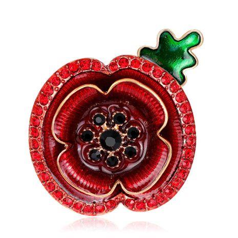 Broches de aleación de galjanoplastia floral de la mujer NHDR127362's discount tags
