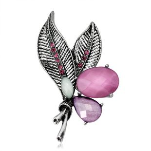 Womens Floral Rhinestone Alloy Brooches NHDR127386's discount tags