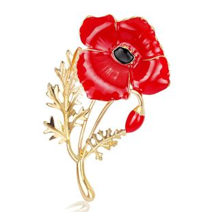 Fashion carnation red drip brooch NHDR127391's discount tags