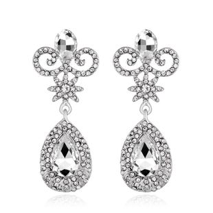 Womens teardrop plating alloy Water droplets Jewelry Earrings NHDR127392's discount tags
