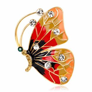 Fashion natural painting Insect Plating Alloy Brooches NHDR127394's discount tags