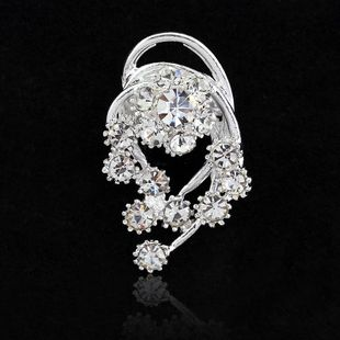 Womens Floral Plating Alloy Brooches NHDR127396's discount tags