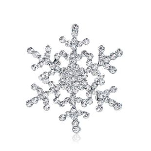 Womens Christmas Snowflake Plating Alloy Jewelry Brooches NHDR127397's discount tags