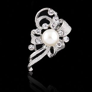 Womens Floral Plating Alloy Brooches NHDR127401's discount tags