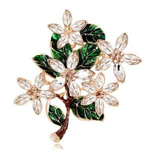 Womens Floral Plating Alloy Brooches NHDR127406's discount tags