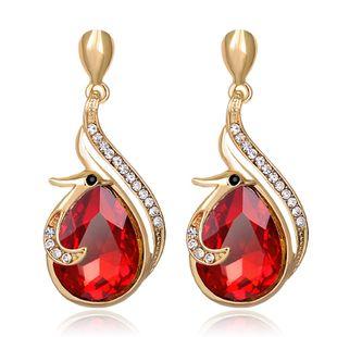 Womens teardrop shape Alloy rhinestone Jewelry Earrings NHDR127407's discount tags