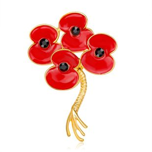 Womens Floral Plating Alloy Brooches NHDR127409's discount tags