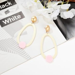 Womens Geometry Electroplating Alloy Earrings NHXS127410's discount tags
