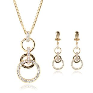 Womens Rhinestone Alloy Jewelry Sets NHXS127414's discount tags