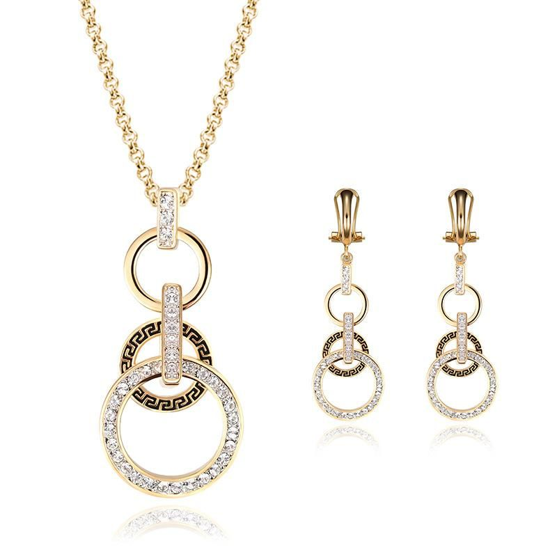 Womens Rhinestone Alloy Jewelry Sets NHXS127414