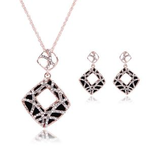 Womens Rhinestone Leopard print hollow Alloy Jewelry Sets NHXS127415's discount tags