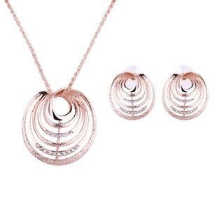 Womens Rhinestone Hollow Alloy Jewelry Sets NHXS127411's discount tags